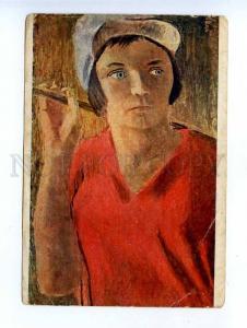 189255 USSR AVANT-GARDE Field worker Samokhvalov Comune GIZ