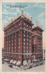 Florida Jacksonville Geo H Masnager Hotel Mason 1926
