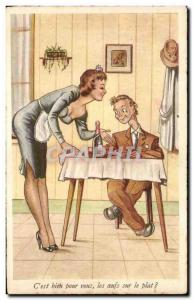 Old Postcard Fantasy Humor & C # 39est well for you fried eggs