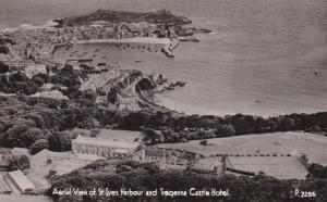 RP: ST. IVES , Cornwall , England , 30-40s ; Tregenna Castle Hotel Aerial View