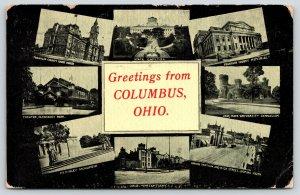 Columbus Ohio~Multi Vw~Prison~Theatre Olentagy Park~Court House~High Street~1911