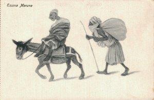 Morocco Caricature Funny Humor 1920´s Escena Moruna 04.58