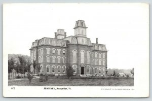 Montpelier VT~Vermont College of Fine Arts~Seminary Hill Hall~2nd Empire~1903 PC