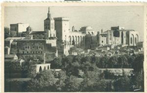 Le Pont Saint-Benezet et le Palais des Papes, early 1900s