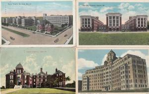 St John Hamot Erie Barnes Louis 4x American Vintage Hospital Postcard Bundle