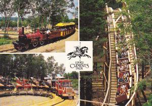 Miniature Train and Roller Coaster Upper Clements Park Nova Scotia Canada