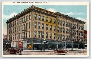 Syracuse New York~Jefferson Hotel~Cigar Shop on Corner~Vintage Cars~1920s