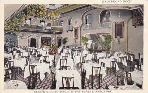 Main Dining Room Oreste Giolito Restaurant 49th Street New York City New York
