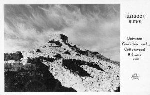 RPPC TUZIGOOT RUINS Clarkdale Cottonwood, Arizona Frashers 1954 Vintage Postcard