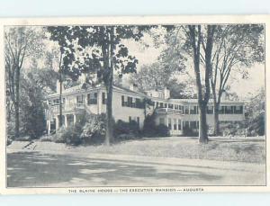 Unused W-Border BLAINE HOUSE Augusta Maine ME d1032