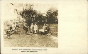 Dover NH Children Nat'l Civic Fed Neighborhood House c1920 Real Photo Postcard