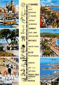 Postcard COTE D'AZURE France Multiview #C