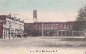DARLINGTON , South Carolina , 1900-10s ; Hewitt Block