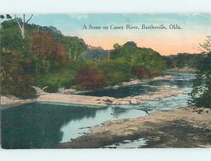 Divided-Back WATER SCENE Bartlesville Oklahoma OK hk2961