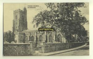 cu0957 - Parish Church , Sevenoaks , Kent - postcard