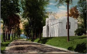 Montpelier Vermont~Green Mount Cemetery~Chapel Along Dirt Road~1912 Postcard