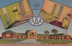 Shelbyville Kentucky The Shelby Motel Linen Vintage Postcard AA39809