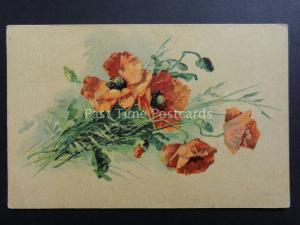Russian: Poppies Postcard: Donation to R.B.L.