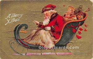 Santa Claus Postcard Old Vintage Christmas Post Card 1909