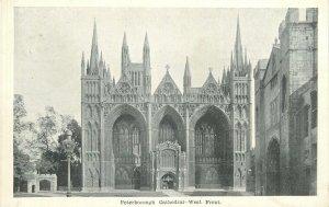Postcard UK England Peterborough cathedral, Northamptonshire