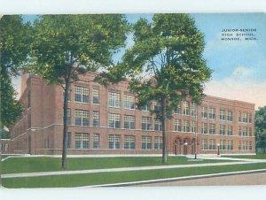 Pre-Chrome HIGH SCHOOL SCENE Monroe Michigan MI AG6756