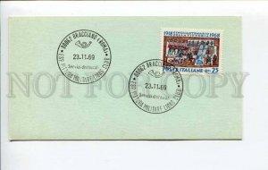 292468 ITALY 1969 philatelic card Bracciano pittura militare lions club