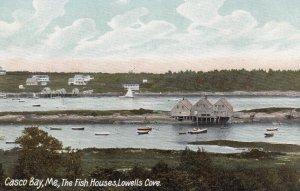 CASCO BAY , Maine , 00-10s ; The Fish Houses , Lowells Cove