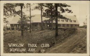 Winslow AR Park Club c1920s-30s Real Photo Postcard #3