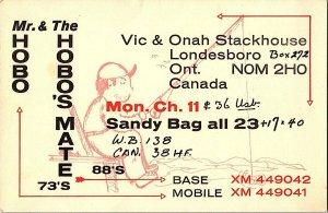 QSL Radio Card From Ontario Canada XM 449042