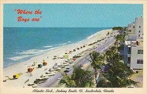 Atlantic Boulevard Looking South Fort Lauderdale Florida