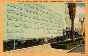 California Hollywood Earl Carroll's Theatre Restaurant The Wall Of...