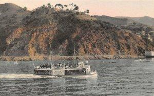 LP71  Avalon Catalina California Glass Bottom Boat  Albertype Postcard