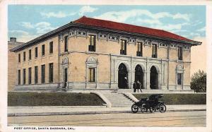 Post Office, Santa Barbara, California,  Early Postcard, Unused