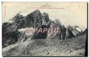 Old Postcard The Alps Dents du Pelvoux Fitr and the Saber The Coup