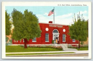 Lawrenceburg Tennessee~US Post Office~Doors Open~Lady @ Entrance~1940s