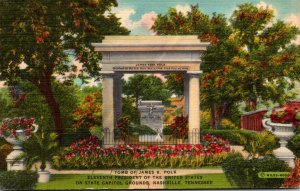 Tennessee Nashville State Capitol Grounds Tomb Of James K Polk