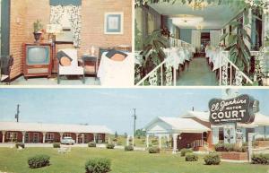 Tupelo Mississippi El Jenkins Motor Court Multiview Vintage Postcard K69169