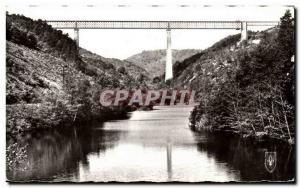 Old Postcard Picturesque La Vallee De La Sioule viaduct Fades