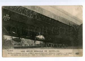 188095 WWI War L-49 ZEPPELIN wreck Vintage postcard