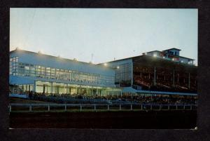 ME Scarborough Downs Race Track Racing Horse Race Maine Postcard Pc