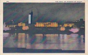 Illinois Chicago 1933 World Fair The Hall Of Science At Night 1933