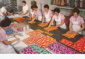 VACAVILLE , California , 1970s ; Candies being wrapped in Nut Tree Candy Kitchen
