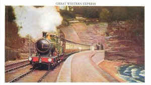Railroadiana repro pictorial train locomotive railroad Great Western Express