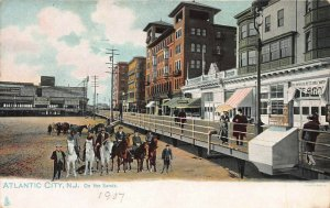 On the Sands, Atlantic City, N.J., 1907 Postcard, Unused, Raphael Tuck & Sons