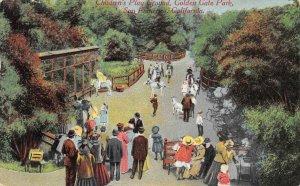 Children's Play Ground, Golden Gate Park San Francisco, CA 1911 Vintage Postcard