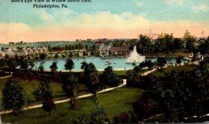 Pennsylvania Philadelphia Willow Grove Park Birds Eye View 1913 Curteich