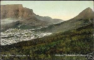 south africa, CAPE TOWN, Section 4, Panorama (ca. 1905)