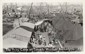 RP: BUNKERHILL , Illinois , 1948 ; Tornado ; The Army Camp
