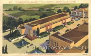 The agricultural Texas Centenial 1936 Exposition 1936 postal used 1936