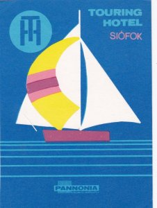 Hungary Siofok Touring Hotel Vintage Luggage Label lbl0058